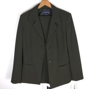 Evan-Picone Green 2-Piece Vintage Pants Suit Sz10